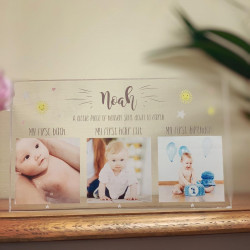 Image of Personalised Baby Memories Photo Acrylic Block