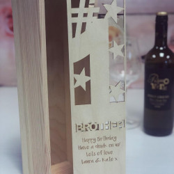 Image of personalised wine box for brother