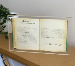 "Personalised Vintage Book Acrylic Block Large- ""The Only Thing Better than"" verse"