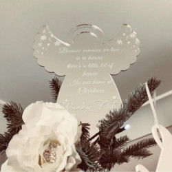Personalised Chirstmas Angel Tree Topper