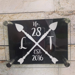 Personalised Arrows House Plaque