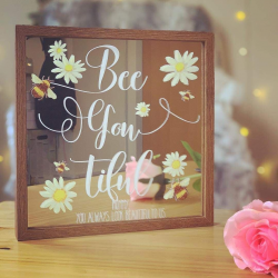 Personalised Bee Mirror Frame ***NOT GUARANTEED FOR MOTHER'S DAY***