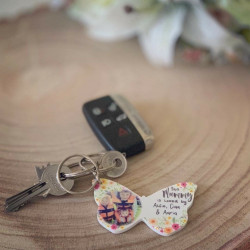 Personalised Butterfly Photo Keyring