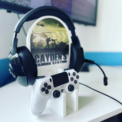 Personalised Gaming Station - SINGLE & DOUBLE Camo Warzone