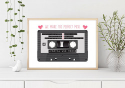 Personalised Retro Cassette DIGITAL PRINT