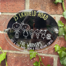 Personalised Family Stick Character Plaque