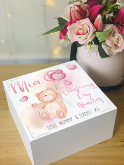 Wooden Cute Animal Personalised Memory Box
