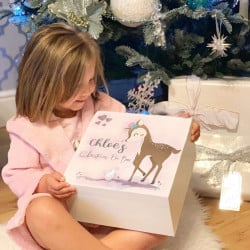 Personalised White Deer & Rabbit Theme Christmas Eve Box - PRE ORDER FOR DECEMBER DISPATCH