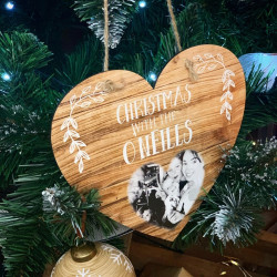 Personalised Christmas Sign With Photo