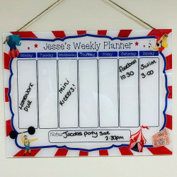 Children's Circus Weekly Planner With FREE Pen