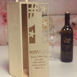 Image of personalised wine box for Grandad