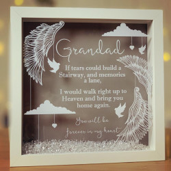 Personalised If Tears Could Build.. Remembrance Frame
