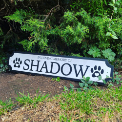 Personalised Pet Remembrance Theme Colour Edge Train/Street Sign