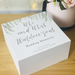 Personalised Eucalyptus Wedding Day Memory Box