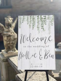 Personalised Eucalyptus Welcome Wedding Sign