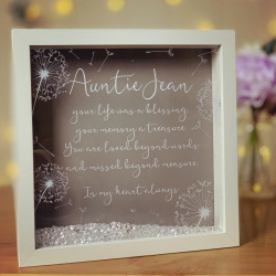 Personalised Printed Remembrance Wishes Frame