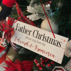 Personalised Father Christmas Sign