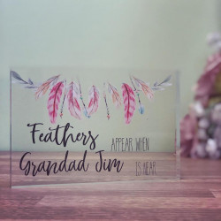 Image of Personalised Feathers Appear Acrylic Plaque