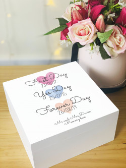 Personalised First Day, Yes Day Memory Box