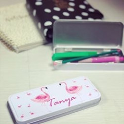 Personalised Flamingo Pencil Case (Buy 1 Get 1 FREE)