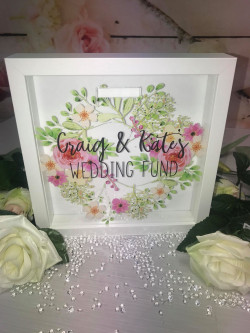 Personalised Floral Wreath Themed Fund Box