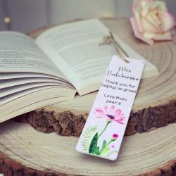 Personalised Teacher Flower Bookmark