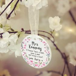 Personalised Floral Teacher Keepsake