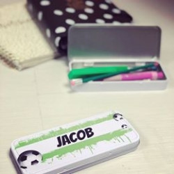 Personalised Football Pencil Case (Buy 1 Get 1 FREE)