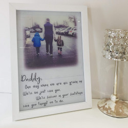 Personalised Footsteps Frame