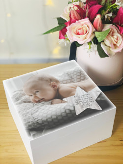 Personalised Star Photo Baby Time Capsule