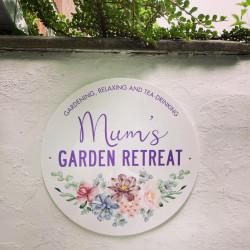 Personalised Garden Retreat Outdoor Sign