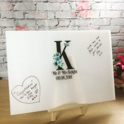 Image of Personalised Initials Acrylic Guestbook