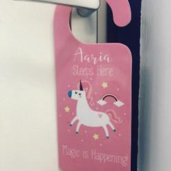Personalised Magic Is Happening Door Hanger