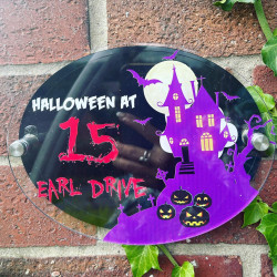 Personalised Haunted House Plaque