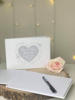 Personalised Heart Wedding Guestbook