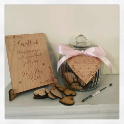 Personalised Jar Of Hearts Guest Book