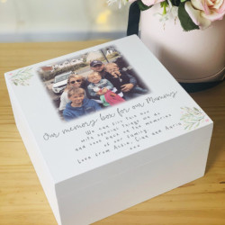 Personalised Wooden Mother's Day Photo Keepsake Box