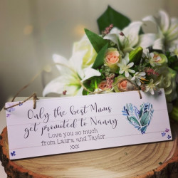 Personalised Nannie Plaque