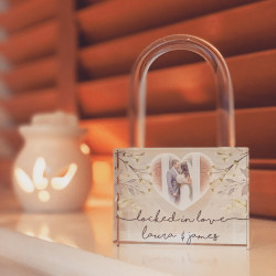 Personalised Floral Locked In Love Padlock