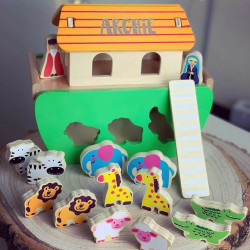 Personalised Noah's Ark Shape Sorter Toy
