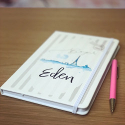 Image of Personalised Paris Notebook
