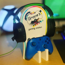 Personalised Gaming Station - Colourful Controller 0
