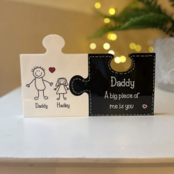 Personalised Jigsaw Pieces - Fathers Day