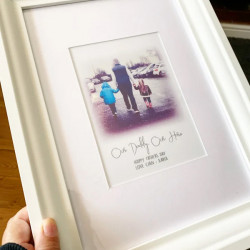 Personalised Photo 'Our Hero' Print 0