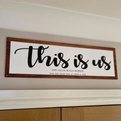 Personalised This Is Us Sign