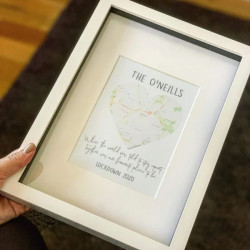 Personalised 'Together Was Our Favourite Place' Map Print 0