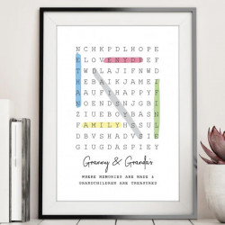 Personalised Word Search Family DIGITAL PRINT