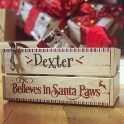 Personalised Christmas Santa Paws Pet Crate