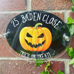 Personalised Large Pumpkin House Plaque