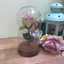 Image of Personalised Small Rose in a Dome